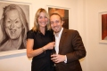 Derren Brown with his friend Rebecca Hossack,