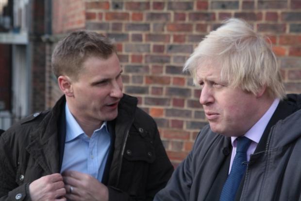 Chris Philp and Boris Johnson