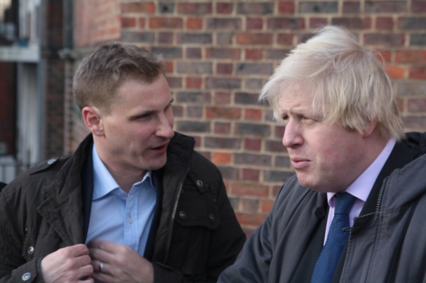 Chris Philp and Boris Johnson