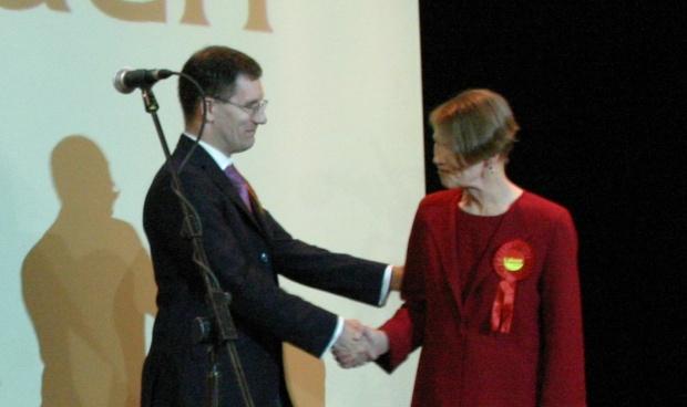 Ed Fordham with Glenda Jackson
