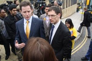 Nick Clegg and Ed Fordham