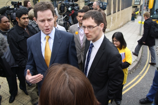 Nick Clegg and Ed Fordham
