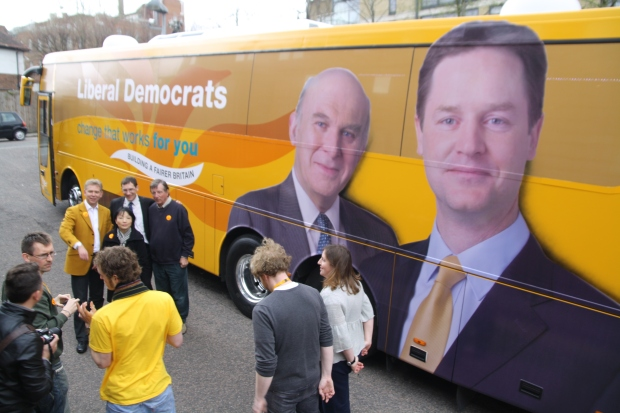 Let the train take the strain: Nick Clegg's (and Vince Cable's) Battle Bus