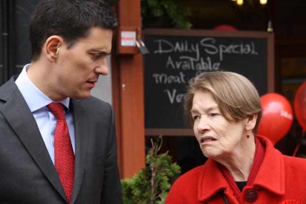 Glenda Jackson and David Miliband