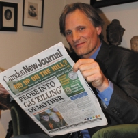 Viggo Mortensen, Aragorn in Lord of the Rings, likes the film page.