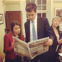 Labour leader Ed Miliband reads every single word