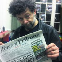 Lord Of The Rings actor Andy 'Gollum' Serkis with his precious