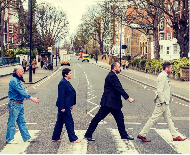 The City Hall Beatles And The World S Cheesiest Road Safety Photo Shoot Richard Osley