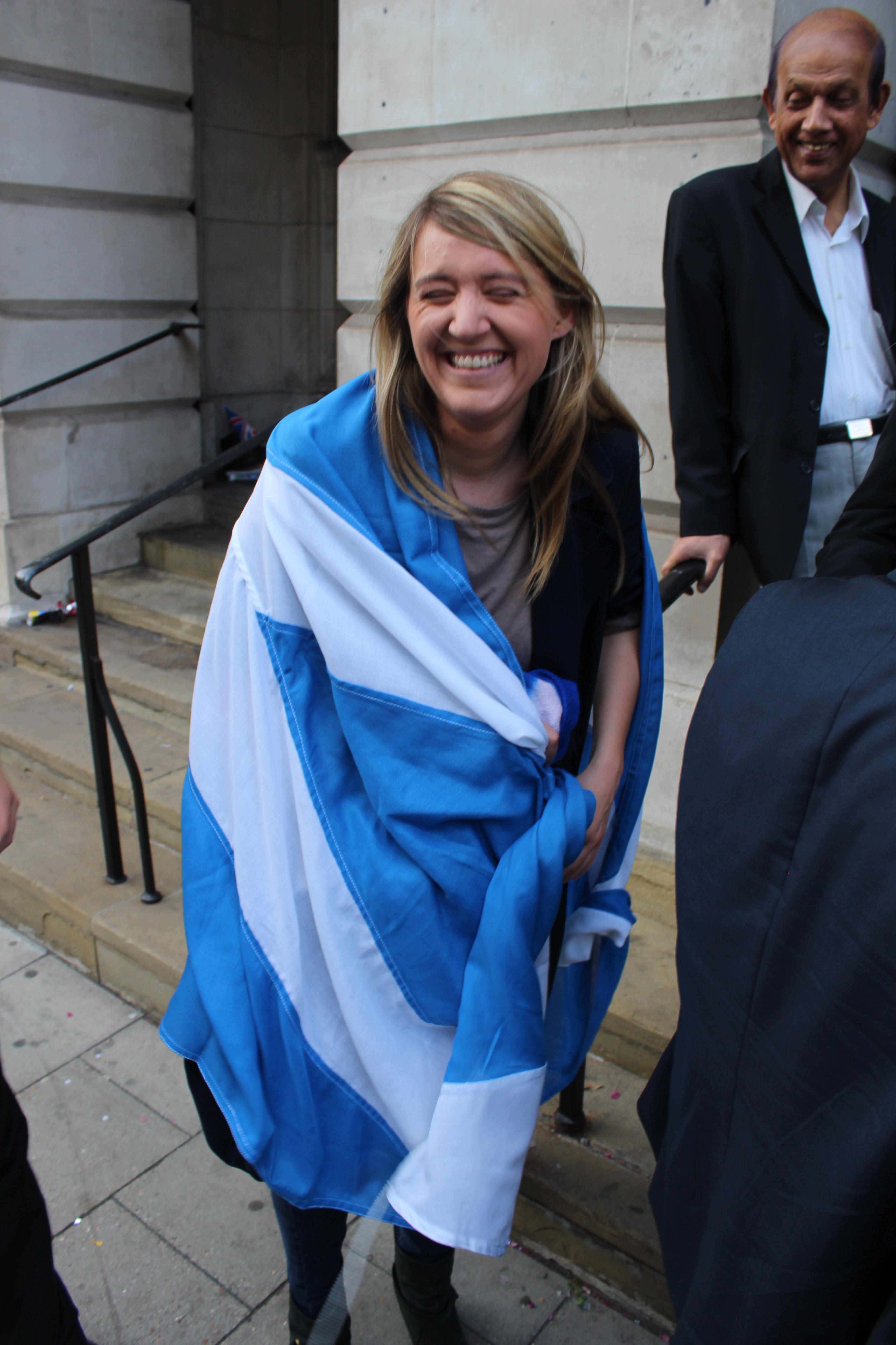 Councillor Georgia Gould heartsScotland