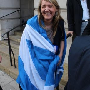 Councillor Georgia Gould hearts Scotland