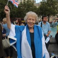 Lib Dem councillor Flick Rea joins the rally