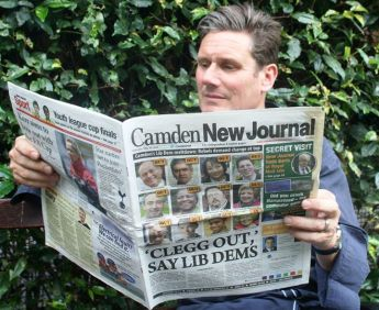 Former Director of Public Prosecutions Sir Keir Starmer catches up on local news