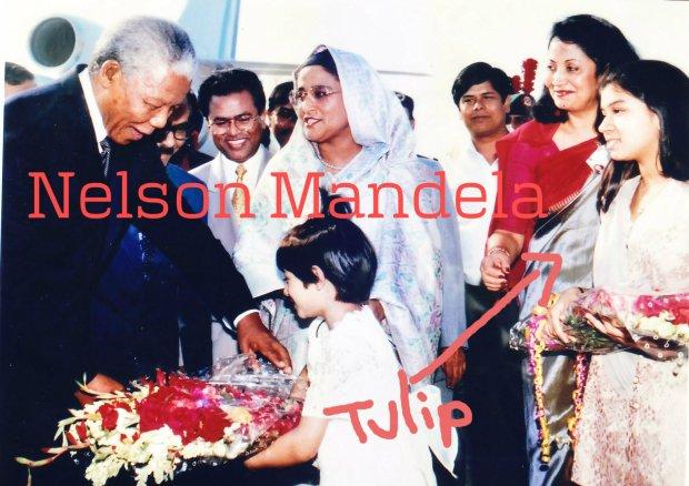 Nelson Mandela with Tulip Siddiq