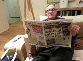 Writer and journalist Will Hutton makes sure he is always gets all the Camden news first