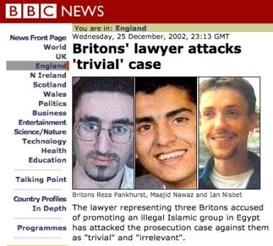 BBC cover Maajid Nawaz case