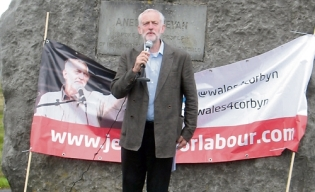 Jeremy Corbyn in Wales_Bevan rock