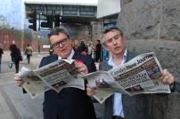 Tom Watson and Steve Coogan can't put the CNJ down for a moment