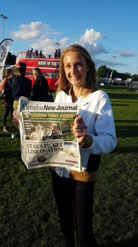 Paula Radcliffe ecstatic with getting her hands on a copy of the CNJ