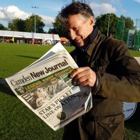 Seb Coe catching up on the sports + politics news